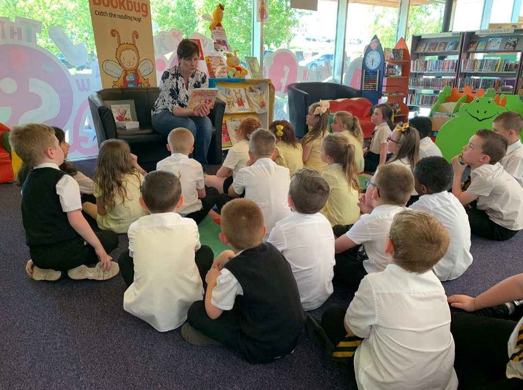 This week, it's Library visits!
